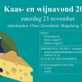 Kaas -en wijnavond